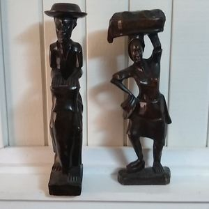 Vintage handmade wooden statue.